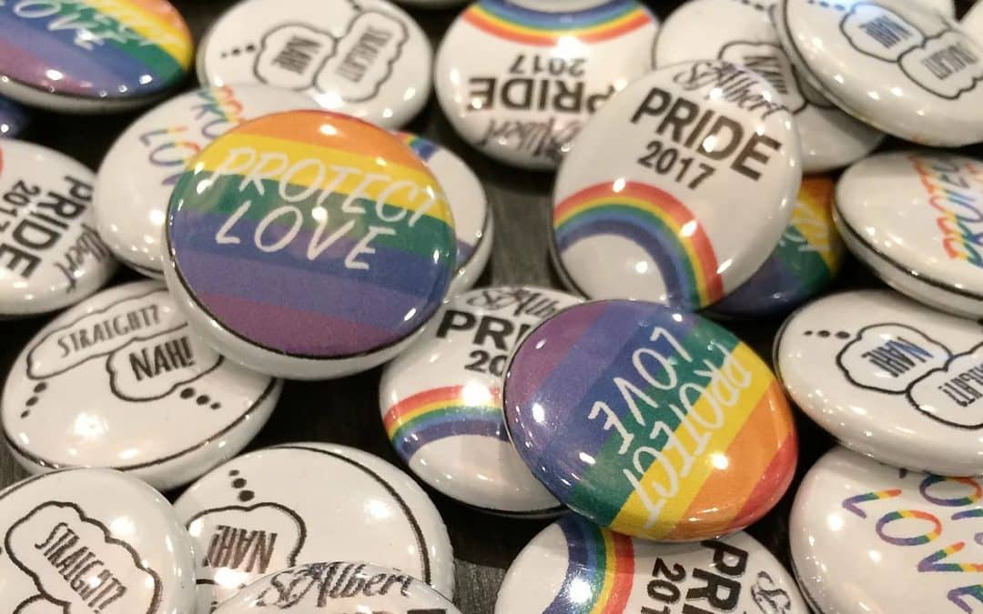 St. Albert Pride Art & Buttons