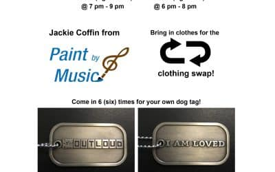Outloud Youth and Junior Tomorrow night with paint mediation and Clothing Swap