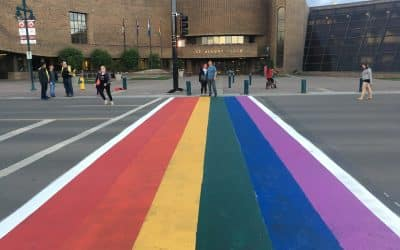 Pride Crosswalk painting and Bonus Outloud Tonight